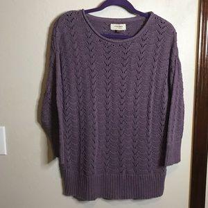 ❄️shell knit 3/4 sleeve length sweater